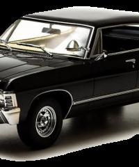 19001-GL-BLACK-1967-Chevy-Impala-4-door-sport-sedan-Hard-Top-Supernatural-TV-Show-Diecast-Model-_burned