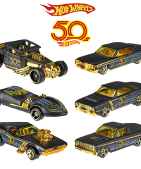2018-Hot-Wheels-Car-Collector-s-Edition-50th-Anniversary-Black-Gold-Metal-Diecast-Cars-Toys-Vehi_burned