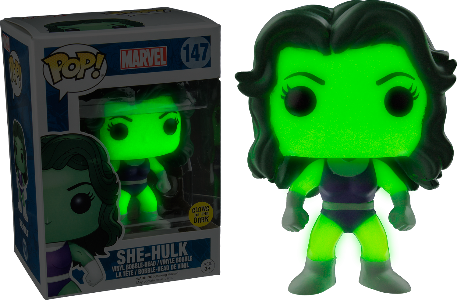 Details About Hulk She Hulk Glow Us Exclusive Pop Vinyl Funko New