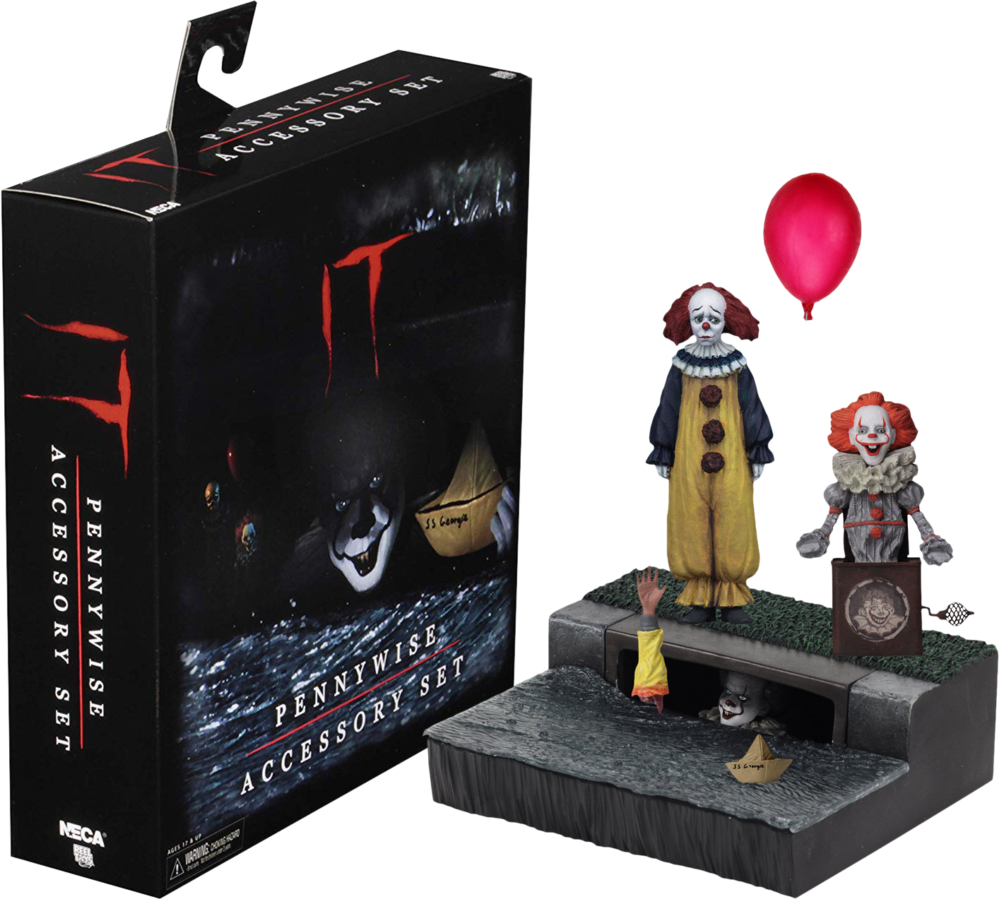 IT 2017 Movie Pennywise Accessory Set Official NECA IN STOCK